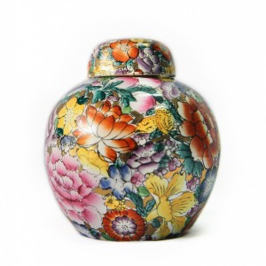 Colourful Flowers Urn